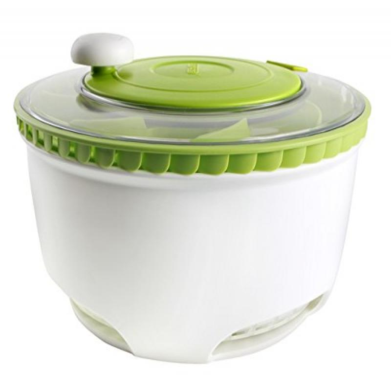 Dexas Turbo Fan Salad Spinner and Dryer, White Green by
