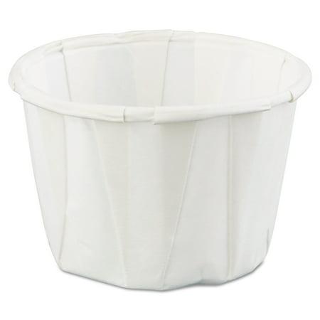 Genpak Squat Paper Portion Cup, 1oz, White, 250/Bag, 20 - Portion Cups