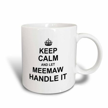 Pheasant Ceramic Handle (3dRose Keep Calm and let Meemaw Handle it fun funny grandma grandmother gift - Ceramic Mug, 15-ounce)