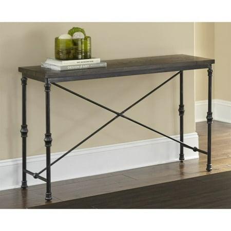 Steve Silver Lillian Industrial Console Table in Dark Oak - image 1 de 2