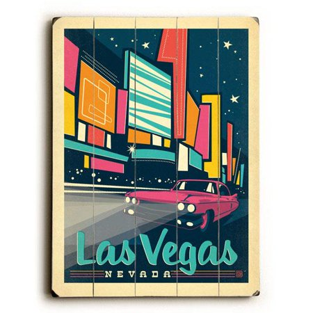 Las Vegas Wood - ArteHouse Decorative Wood Sign
