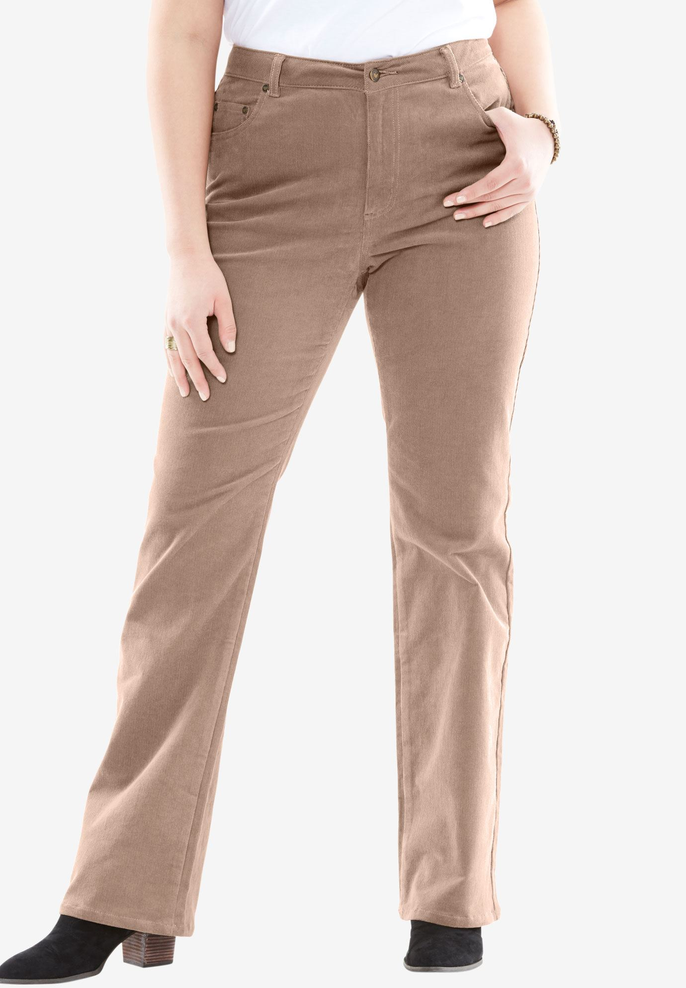 Plus Size Petite Stretch Corduroy Bootcut Jean