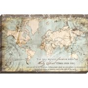 Carpentree Acts 1:8 Map Giclee Graphic Art on Wrapped Canvas