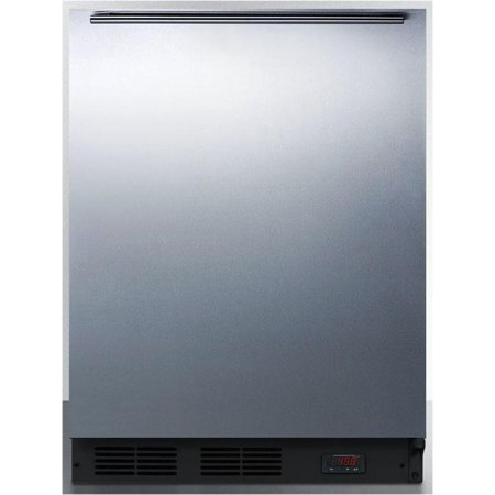 Ada Compliant Appliances (Summit Appliance FF63BDTPUBSSHHADA 24 ADA Compliant Freestanding Beverage Center with 5.5 cu. ft. Capacity 3 Glass Shelves 1 Scalloped Bottle Shelf Automatic Defrost and Reversible Door in Stainless Steel)