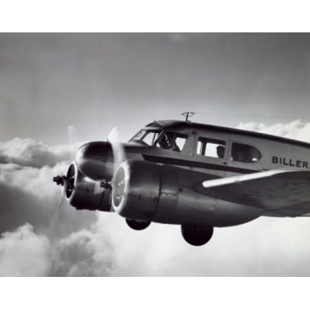 Low angle view of an aircraft in flight Twin Engine Cessna Poster Print (Cessna Single Engine)