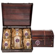Texas A&M Aggies Capitol Decanter Chest Set by Heritage Metalworks