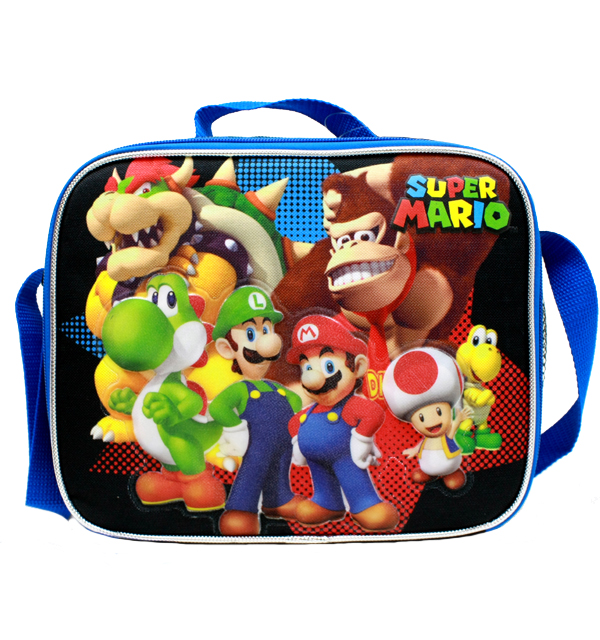 Lunch Bag - Nintendo - Super Mario Group Black New SD28262
