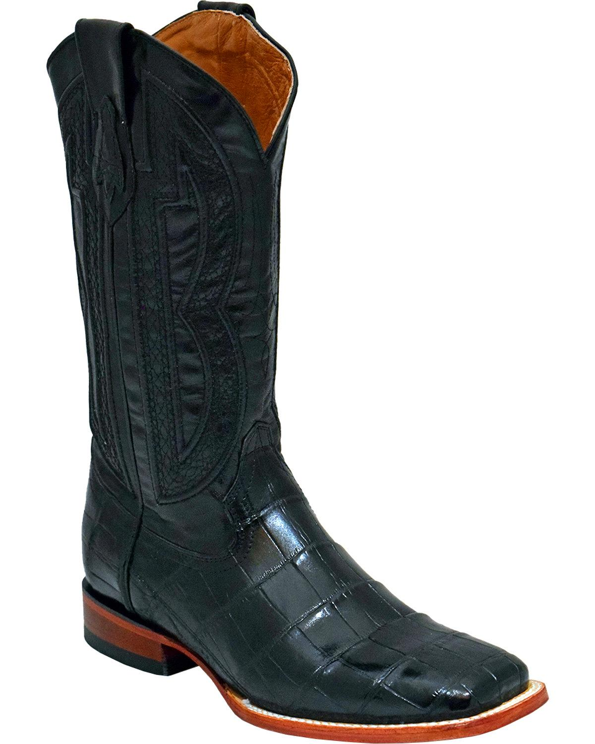 Ferrini Men's Genuine Alligator Belly Western Boot Square Toe 1079304 by Ferrini