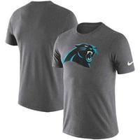 25abc4723 Product Image Carolina Panthers Nike Essential Logo Dri-FIT Cotton T-Shirt  - Heather Charcoal