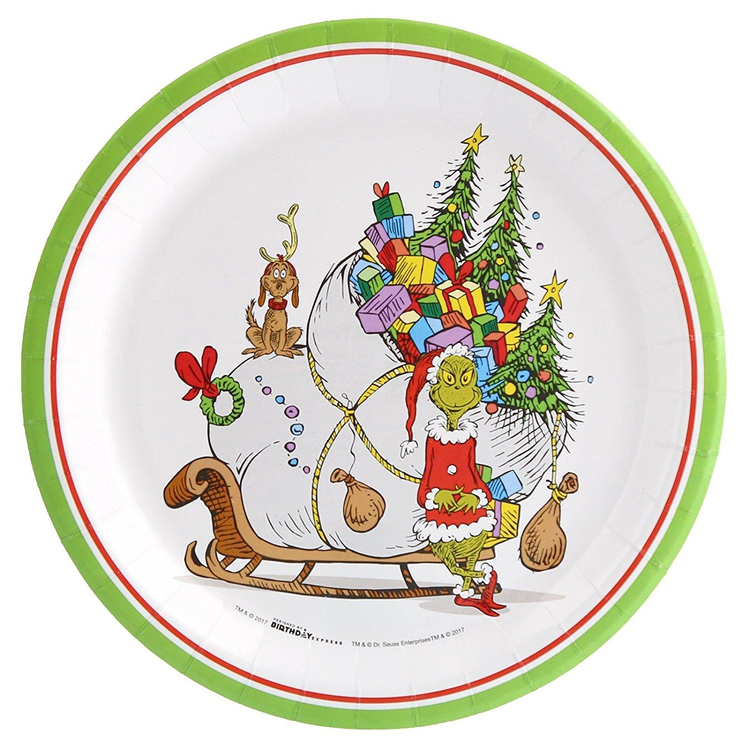 Dr. Seuss The Grinch Christmas Holiday Party Dinner Plate (8) Set the  sc 1 st  Walmart & Dr. Seuss The Grinch Christmas Holiday Party Dinner Plate (8) Set ...