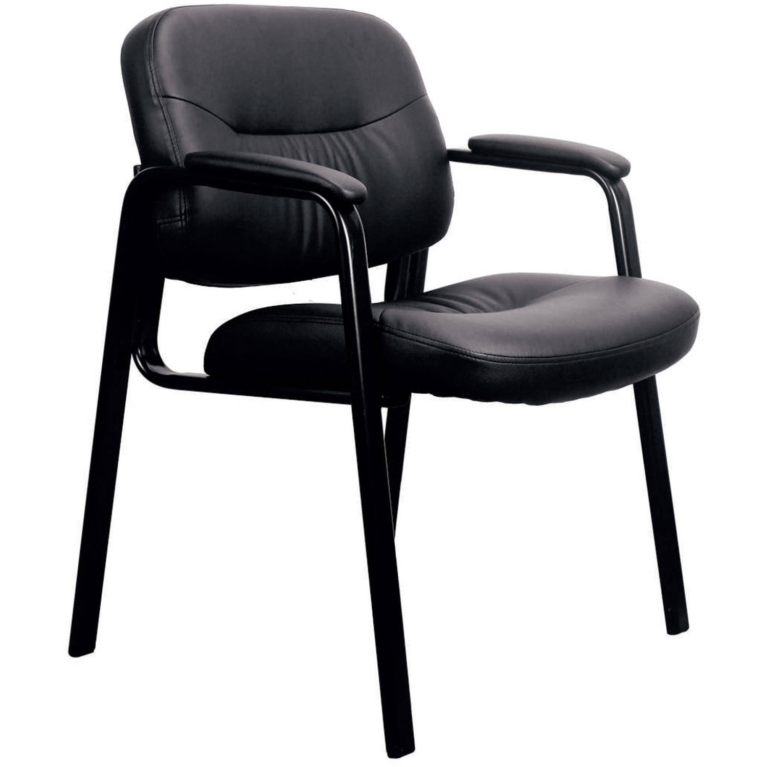 Essentials by OFM ESS-9010 Leather Executive Side Chair, Black