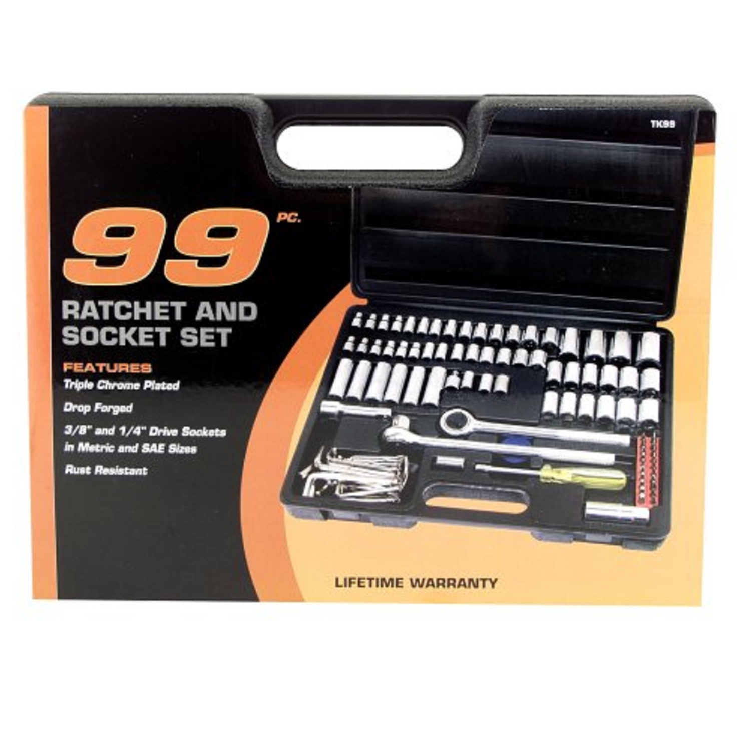 "Great Neck 99 Piece Ratchet and Socket Set 1/4""-3/8"" Drive"