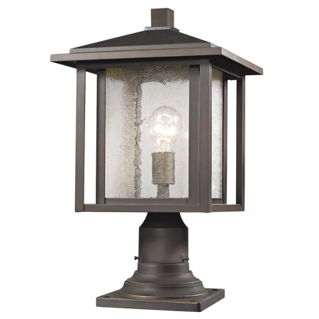 Outdoor Accessory 1 Light With Oil Rubbed Bronze Finish Aluminum Medium Base Bulb 11 inch 100 Watts