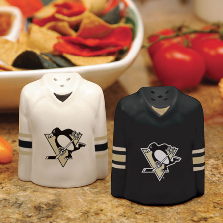 Pittsburgh Penguins Ceramic Jersey Salt and Pepper Shakers