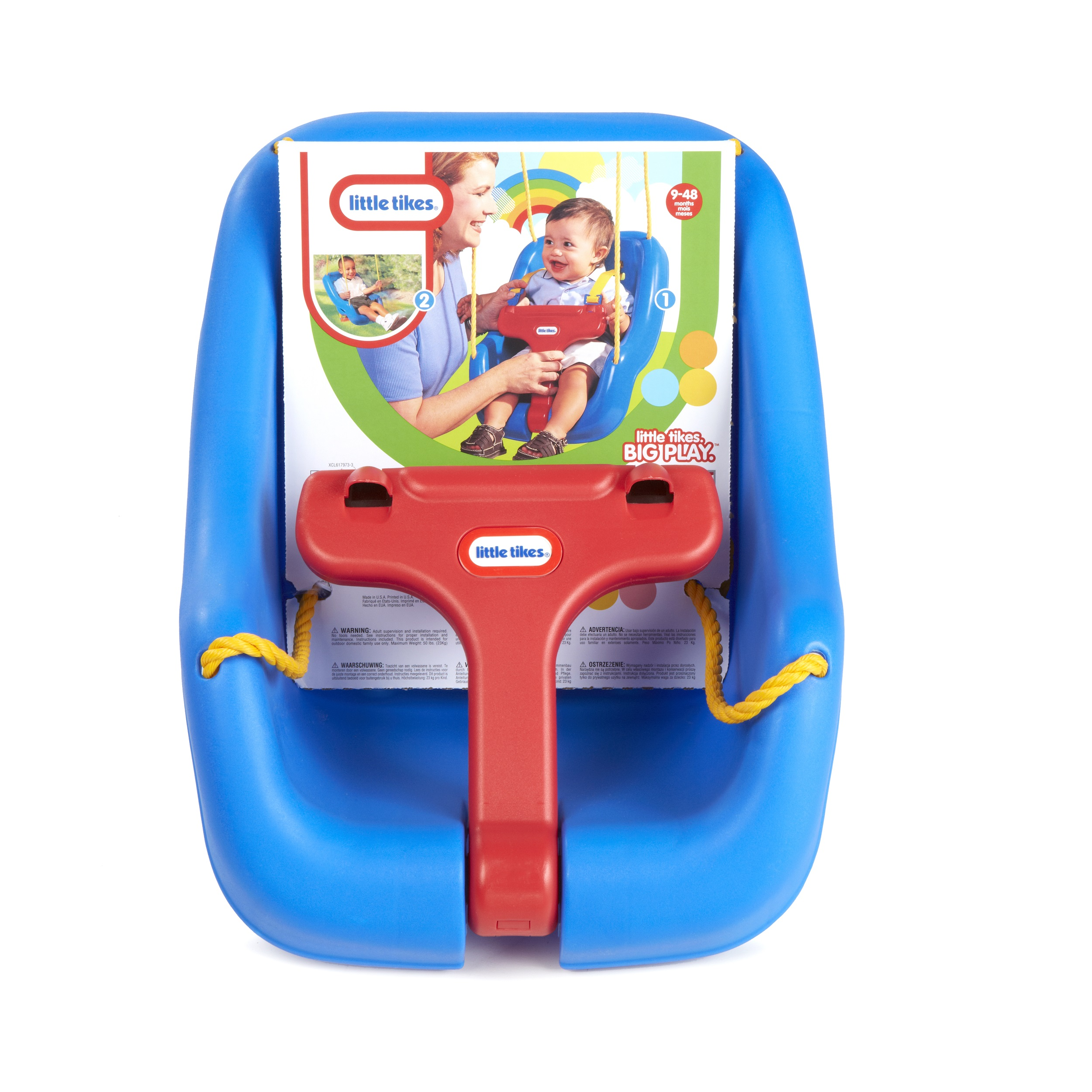 Little Tikes 2-In-1 Snug And Secure Swing - Blue  sc 1 st  Walmart & Little Tikes 2-In-1 Snug And Secure Swing - Blue - Walmart.com