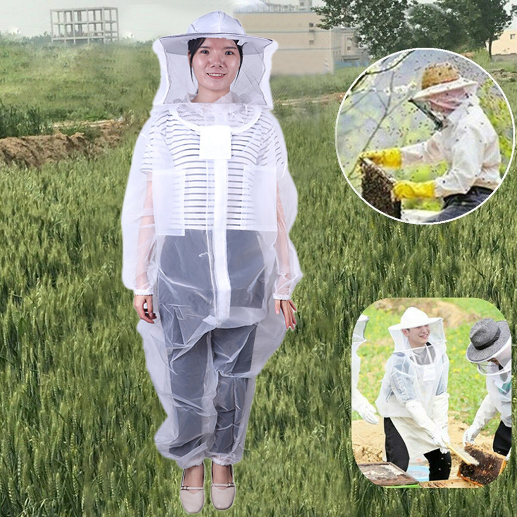 Breathable Half Body Anti-Bee Clothes with Cap Beekeeping Suit Protectiv