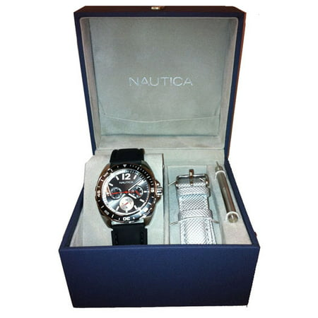 NAUTICA MEN'S WATCH SPORT RING BOX SET 39MM
