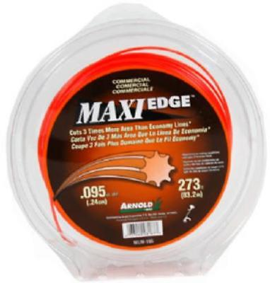 200' .095 Maxi Edge Trimmer Line Orange In Clear Dispenser Pack Only One