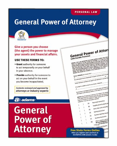 Socrates General Power Of Attorney Forms  Legal Reference    Pc