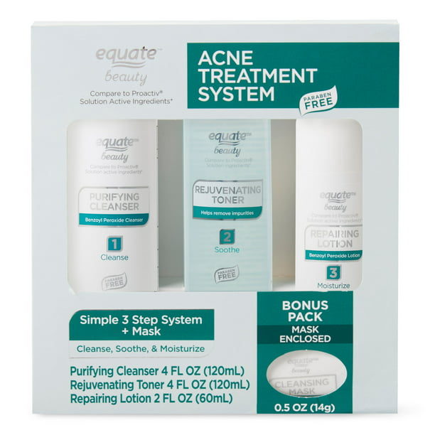 Equate Beauty Acne Treatment Regimen Set with Benzoyl Peroxide