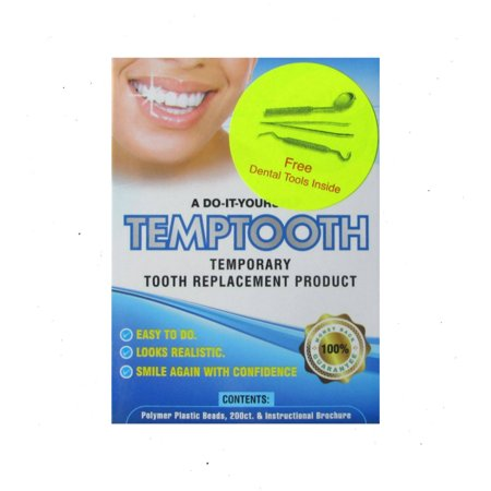 Temptooth, A Do It Yourself Tooth Replacement Product, 200 ct