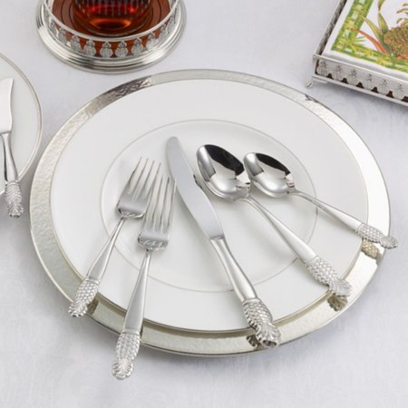 Ginkgo Pineapple Stainless Mirror Finish Flatware - Set of (Ginkgo Stainless Steel Pineapple)