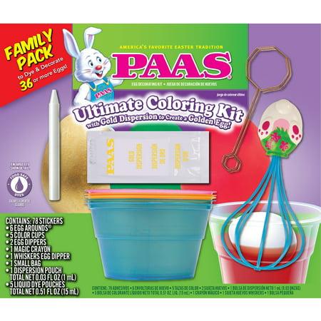 PAAS Ultimate Coloring Kit Egg Decorating Kit - Walmart.com