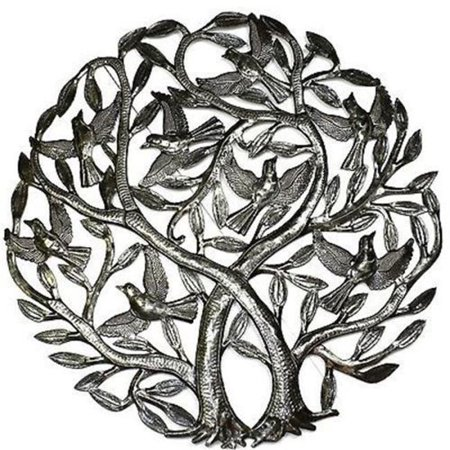 Croix des Bouquets Double Tree of Life Metal Wall Art 24 in. Diameter