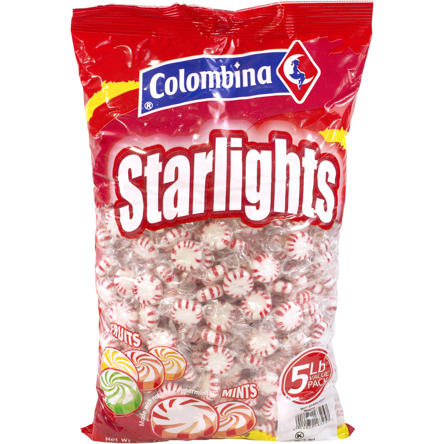 Colombina Peppermint Starlight Mints, 5 lbs by