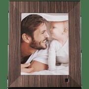 NIX LUX 8 inch Digital Photo Frame - Real Wood Finish
