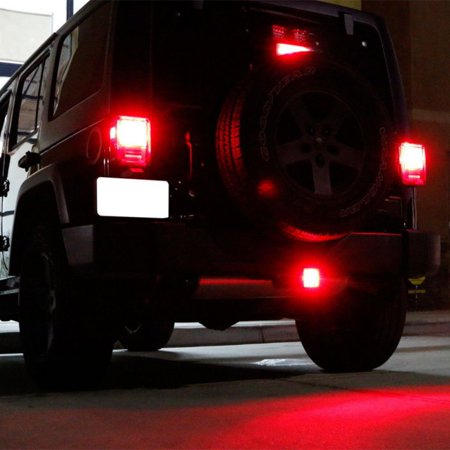 1 Pair Trailer Truck Hitch Towing Receiver Cover Smoked Lens 15 LED Brake