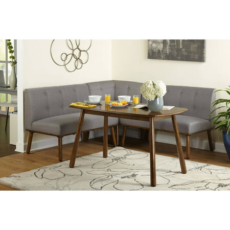 Maxwell breakfast nook 4 piece corner dining set multiple - Corner tables for living room online ...