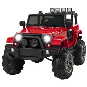 Best Choice Products 12V Ride On Car Truck w| Remote Control, 3 Speeds, Spring Suspension, LED Light - Red