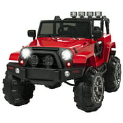 Best Choice Products 12V Ride On Car Truck w/ Remote Control, 3 Speeds, Spring Suspension, LED Light - Red