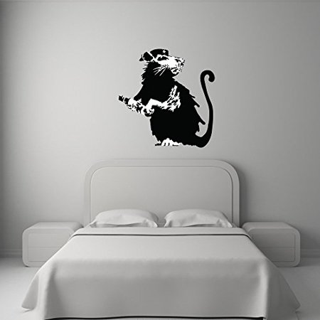 Revolutionary Rat Banksy Wall Decal Wall Sticker Vinyl Wall Art Wall A