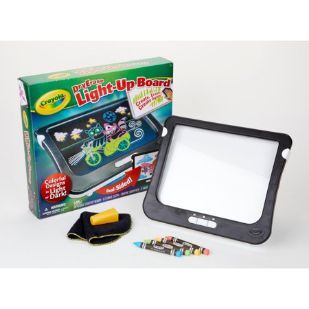 Crayola Dry Erase Light Up Board, Drawing And Coloring Tablet, Gift For Kids, 11 Pieces ()