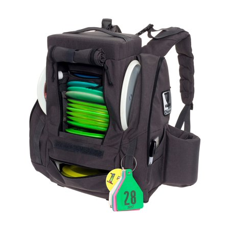 Fusion Pro 25 Disc Capacity Disc Golf Frisbee Backpack Bag W Built In Seat