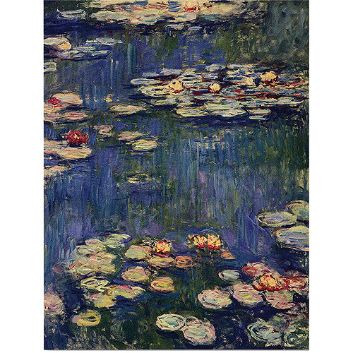 "Trademark Art ""Water Lilies"" by Claude Monet"