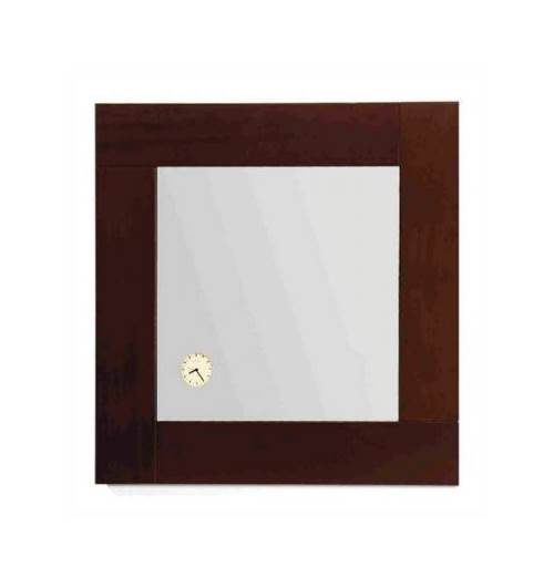 Antonio Miro Square Mirror w Iroko Wood Frame by Alfi Trade Inc