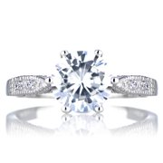 Emitations Sterling Silver Round Cut CZ Ring 9