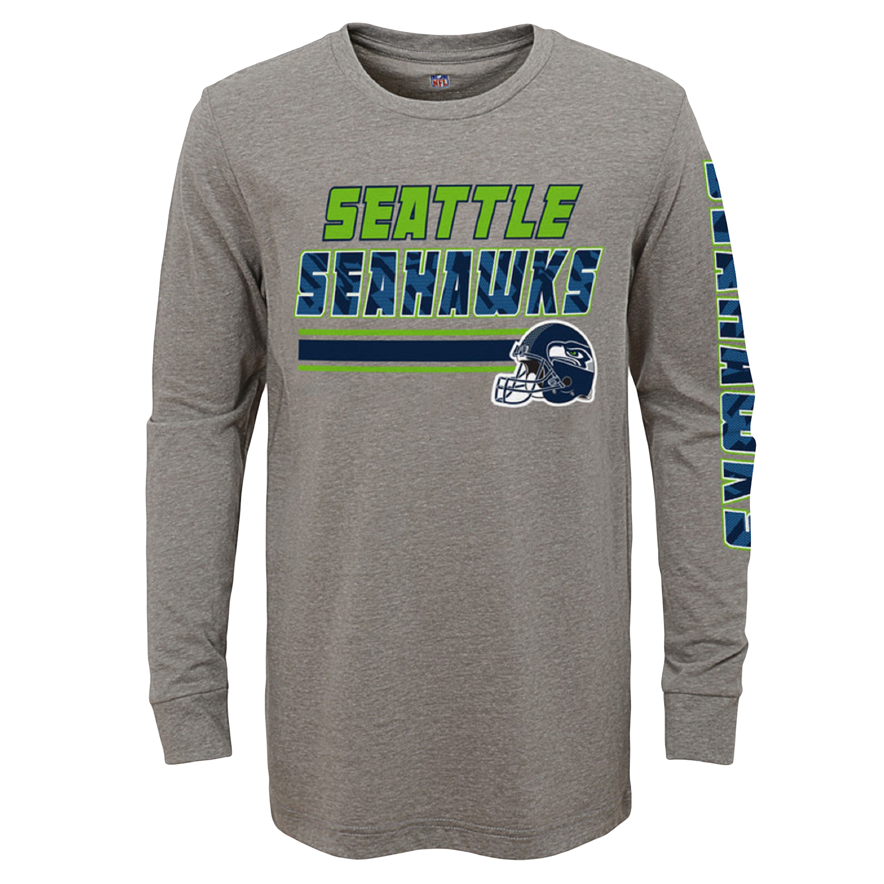 Youth Gray Seattle Seahawks Long Sleeve T-Shirt