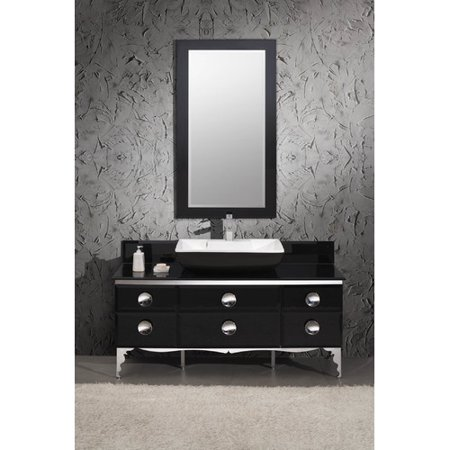 Fresca Moe 59 Single Modern Gl Bathroom Vanity Set With Mirror