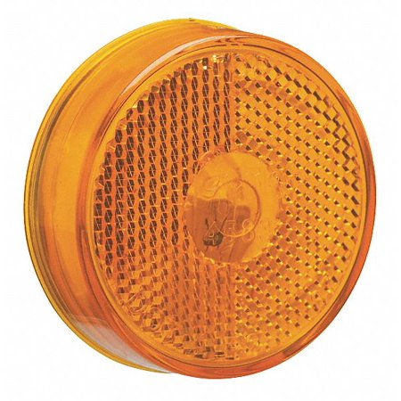 """Grote 45833 Yellow 2 1/2"""" Round Clearance Marker Light (Built-In Reflector)"""