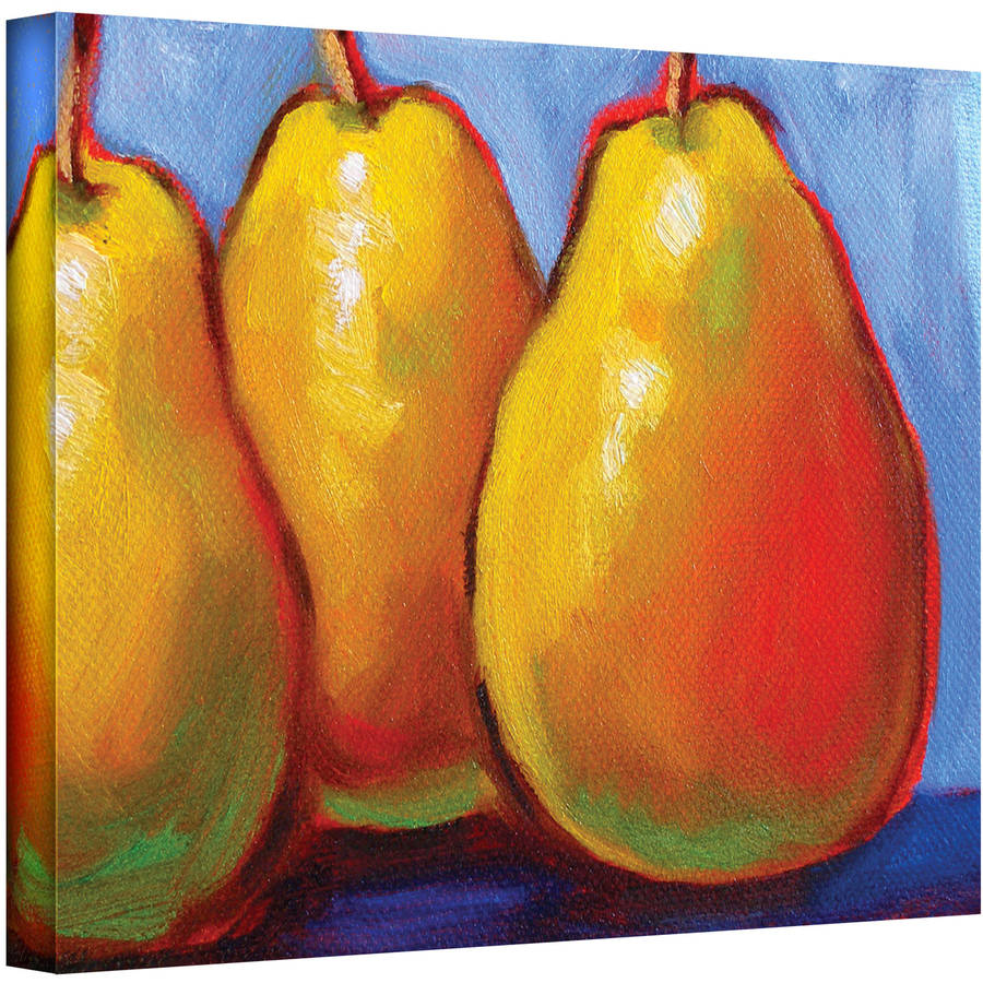 "ArtWall Susi Franco ""Gang of Pears"" Gallery-wrapped Canvas"