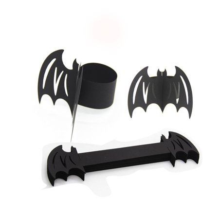 JuDan Laser Cut Cards Rings Wrappers Table Decoration Bat Halloween