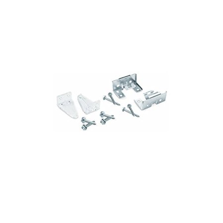 Hold Down Bracket - Premium Universal Hold Down Bracket Accessory Pack, Clear brackets used to secure the bottom of premium plantation faux wood or real wood blinds to a door or.., By Levolo