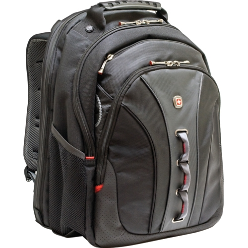 LEGACY WA-7329-14F00 Carrying Case (Backpack) for 15.6 Notebook - Black - Polyester, Vinyl - 18 Height x 3.3 Width x 14 Depth