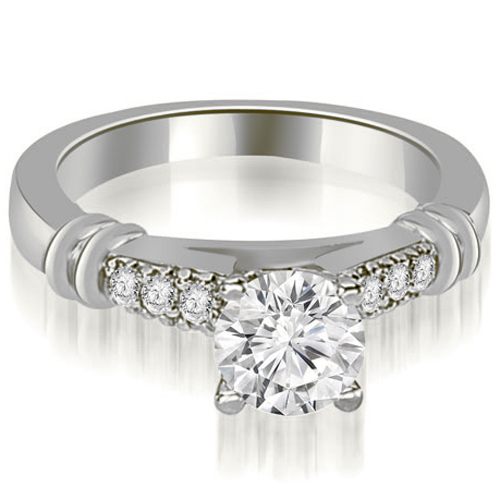 0.90 CT.TW Round Cut Diamond Engagement Ring in 14K White, Yellow Or Rose Gold