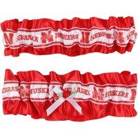 Women's  Scarlet/White Nebraska Cornhuskers Keepsake Garter Set - No Size