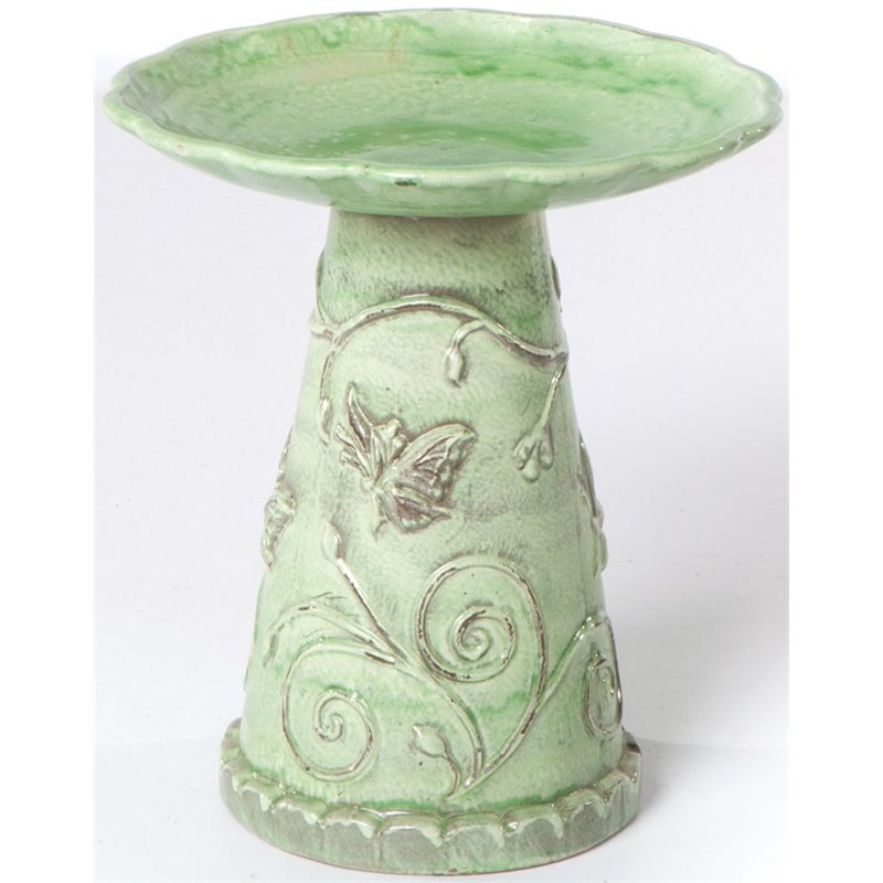 Alfresco Home Jardin Birdbath in Celadon by Birdbaths